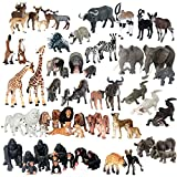 Musykrafties Jumbo-Spielset, Spielfiguren aus Plastik, Afrika, Dschungel, Tiere 63-piece Full Set African Jungle Animals