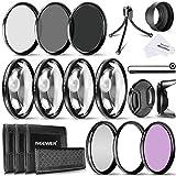 Neewer 72 mm Kamera Objektiv Filter-Set, inklusive 72 mm UV, CPL, FLD Filter, ND Filter, Close Up Makro-Filter, Mini Tisch Stativ und andere für alle Objektive mit 72 mm Gewinde Größe