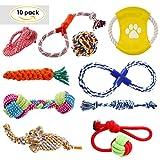 PEDY Hundespielzeug Set,interaktives Spielzeug,Pet Rope Spielzeug,mit verschiedenen Farbe und Form, geeignet für kleine und mittelgroße Hunde (10 Stück )