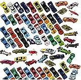 Prextex 100 Stk druckgegossene Spielzeugautos Party Gelegenheiten oder Kuchenaufsätze Spielzeug Autos für Kinder
