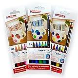 Porzellan-Pinselstift edding 4200, 3 x 6er-Set, 1 - 4 mm, family-, warm-, cool-colour Set