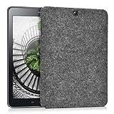 kwmobile Hardcase Stoff Hülle für Samsung Galaxy Tab S2 9.7 - Cover Case in Filz Design Dunkelgrau