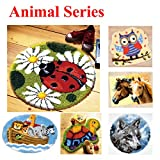 18 Modell Animal Knüpfkissen Latch Hook Kit Rug Animal 025 50 by 50 cm