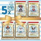 Hundekuchen - mit Seelachs & Möhren - 5 x 210g Bubeck - getreidefreie Hundekekse - ohne Zucker und Konservierungsstoffe
