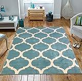 Moderner Designerteppich, in alttürkis, Qualität, Bodenteppich, extra groß., Polypropylen, 120x170cm
