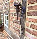 Antikas - Schöne mittelalterliche Fackel - Wandfackel Burgfackel Kerzenhalter Wand Lampe