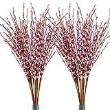 Famibay Künstliche Winter Jasmin Blumen 20 PCS 29.5' Langer Gefälschte Blumen für Zuhause Hochzeit Party Speicher Dekoration(Rosa)