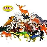 BBLIKE Dschungel Tiere Figur Dinosaurier Figur und Meerestiere Figur, 60 Stück Kunststoff Mini Tiere Party Favors Party Tasche Füllstoff Beste Geschenk Set