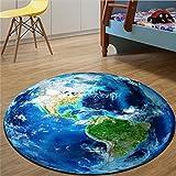 CanVivi Teppiche Erde Mond Pattern für Wohnzimmer Jugendzimmer Babyzimmer Nachahmung Bettvorleger Sofa Matte