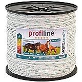 Profi Weidezaun Seil 500m 6mm, 3x0,30 Kupfer + 3x0,3 Niro, weiß-grün 4****