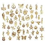 Euiristore 50Schmuck-Anhänger, gemischter Stil, zum Herstellen von Schmuck für Halskette/Armband gold
