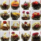 Yssabout Teeblume / Teekugel, chinesischer grüner Tee, mit Blüte, zufällige Auswahl, 10Stück