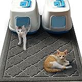 Easyology Jumbo Größe Katzenstreu Matte–(119,4x 91,4cm)–Extra große Scatter Control Kitty Mats für Katzen Tracking Katzentoilette aus Ihrer Box–weich to Design (zum Patent angemeldet)