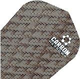 Harrows Carbon Kohlelaminat Dartpfeil Flights Set 100 Mikron Leistung 10 Stück Packung - Einheitsgröße, Braun