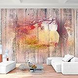 Fototapete Wald Holzoptik Vlies Wand Tapete Wohnzimmer Schlafzimmer Büro Flur Dekoration Wandbilder XXL Moderne Wanddeko - 100% MADE IN GERMANY - Runa Tapeten 9112010c