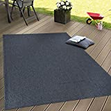 Paco Home In- & Outdoor Flachgewebe Teppich Terrassen Teppiche Natürlicher Look Navy Blau, Grösse:160x220 cm