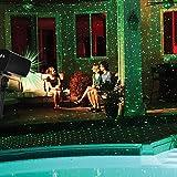 LED Projektionslampe von Colleer, Lichteffekt mit Schutzart IP65 für Innen und Außen, Beleuchtung als Gartenleuchte Projektor, Mauer Dekoration, Party Licht, Gartenlicht, Festen, Weihnachten (Sternen)