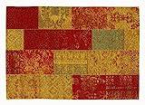 DALLIANCE ALLOVER Vintage Patchwork Designer Teppich in multicolor, Größe: 80x250 cm