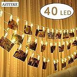 LED Foto Clips Lichterketten, Batteriebetriebene Lichter/Warmes Licht ,Schlafzimmer, Hochzeiten, Feiern, Weihnachten, Innenbeleuchtung, Deko-Beleuchtung, Kunstwerke [Energieklasse A+] (4m 40 LED)