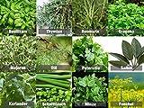 Mischung/Mix'Kräutergarten' 12 x Samen der beliebtesten Kräuter aus Portugal/biologisches Anbau (Keine Chemie/künstliche Wachstums-Helfer)