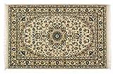 Lifetex.eu Hochwertiger Orientteppich Orientdesign-Muster (ca. 100x150 cm) · Klassisch · maschinell hergestellt · Polyamid · Beige · · LT12623