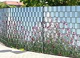 PerfectHD Zaunsichtschutz | 30 Motive | Sichtschutzstreifen für Doppelstabmattenzaun | Windschutz Sonnenschutz Blickdicht | 2,50m x 1,80m | 19cm | 9 Streifen | Sommerblumen