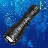 Odepro DIV05 1000 Lumen Einspielermodus Taschenlampe Tauchleuchte Unterwasser 150m wasserdicht Submarine Licht