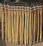 iapyx Gartenfackel Bambusfackeln Bambus Fackeln Öllampen Windlicht Partylicht Garten Hochzeit Fest Silvester (Beige, 90cm)