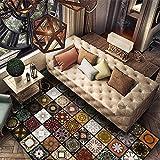 Bereich Teppich Wohnzimmer Original Vintage exotische Mode Gemustert Teppich für Wohnzimmer Schlafzimmer Arbeitszimmer Umwelt Teppiche Tapis Anti-Rutsch-Matte (größe : 140x200cm)