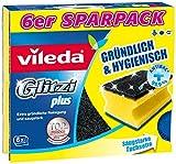 Vileda Glitzi Plus Topfreiniger zur Entfernung von hartnäckigem Schmutz, 1er Pack (1 x 6 Stück)