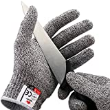 NoCry Schnittfeste Handschuhe – Leistungsfähiger Level 5 Schutz, lebensmittelecht. Größe : M, 1 Paar