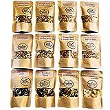 Crunchy Queen handgemachtes Knusper-Müsli und Snacks Probierpaket, 12er Pack, ohne Zusatz von raffiniertem Zucker