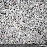 BEKATEQ BK-610PU Steinteppich Set Wand Aussen Treppe Balkon - 25kg Marmorkies + 3kg 1K PU als Bindemittel und Grundierung (Bianco Carrara)