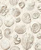 UGEPA Vinyltapete Fossilien, weiß, J86207