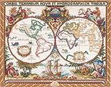 Unbekannt Janlynn Olde Weltkarte, Kreuzstich-Set