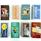 8 x 48er Packungen Streichholzschachteln, 10cm mit Vintage Retro Nostalgie Design Streichhölzer Zündhölzer