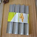 ECENCE Baguette Back Blech Baguetteform für bis zu 4 Baguettes Antihaft Beschichtung Backblech 81040307