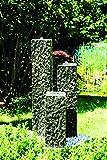 Köhko Springbrunnen 'Lilienstein' Höhe ca. 60 cm Gartenbrunnen aus Polyresin in Natursteinoptik inkl. LED-Beleuchtung