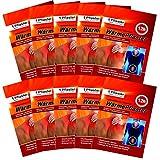 M&H-24 Wärmepflaster bis 12h, Wärmekissen Schmerzpflaster Wärmepads Rückenwärmer Wellnesprodukt für Massage & Entspannung Selbstklebend Set (10 Stück)