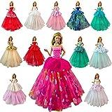 VILLAVIVI 7 Pcs Abendkleidung Hochzeitskleid Kleidung Kleider Puppenkleidung für Barbie Puppen Doll