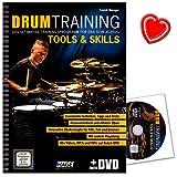 Drum Training Tools a Skills - Das ultimative Trainingsprogramm für das Schlagzeug von Patrick Metzger - mit DVD und bunter herzförmiger Notenklammer - EH3943-9783866263994