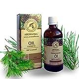 Haaröl rein natürlich, Haare Öl mit naturreinem 100 % Jojobaöl, Traubenkernöl, Zedernholzöl, Eukalyptusöl und Orangenöl für intensive Haarpflege, Haarpflegeöl für trockene und brüchige Haare, Haarwachstum, Haarstärkung, verleiht Glanz und Geschmeidigkeit, toller Duft, Glas-Flasche, 100 ml, 1er Pack (1 x 100 ml) Naturkosmetik von AROMATIKA
