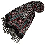 Lorenzo Cana - Luxus Pashmina Damenschal Schaltuch aus weicher Wolle Paisley Muster bunt mehrfarbig 70 x 190 cm Wollschal Wolltuch Stola Umschlagtuch