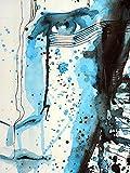 Sticker Selbstklebend oder zeigt Poster Design Gesicht Mann von _ 00032Dressurschabracke, Affiche poster, 29,7x42 cm (A3)