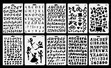 Vancol Kunststoff Kugel Journal Schablone Schablone Satz von 10 mit Buchstaben Nummer Alphabet, perfekt für Planer / Notebook / Tagebuch / Scrapbook / Graffiti / Karte, DIY Zeichnung Malerei Handwerk