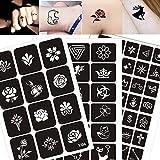 300 muster handwerk tattoo aufkleber vorlagen body art malerei tattoo vorlagen zeichnungschablonen aufkleber bücher