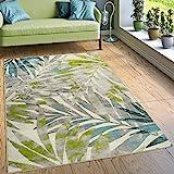 Paco Home Designer Teppich Wohnzimmer Ausgefallene Farbkombination Jungle Design Mehrfarbig, Grösse:160x220 cm