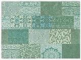 Designer Teppich gemustert patchwork vintage Mona Lisa von Keen Joy K10951 Türkis 13 in 080x150 cm