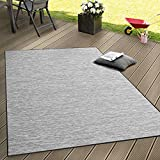 In- & Outdoor Flachgewebe Teppich Terrassen Teppiche Mit Farbverlauf In Grau, Grösse:140x200 cm