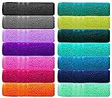 Lashuma 2er Set Seiflappen 30x30 cm | London kleine Gesichts Handtücher | weiche Seiftücher Farbe: Lotus Rosa
